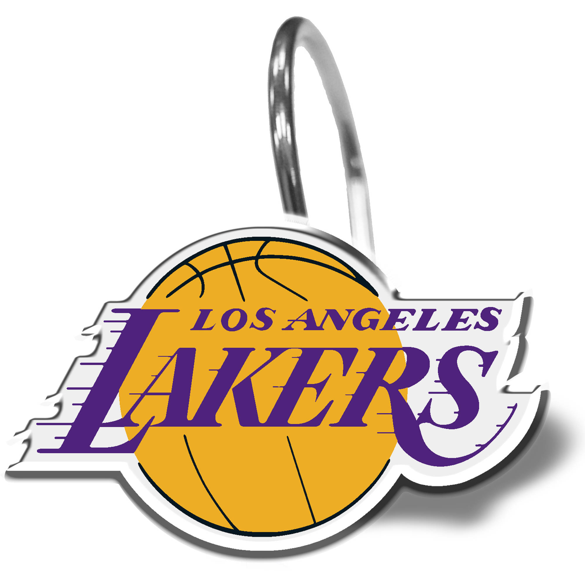 NBA Los Angeles Lakers Shower Curtain Ring Set, 12 Piece