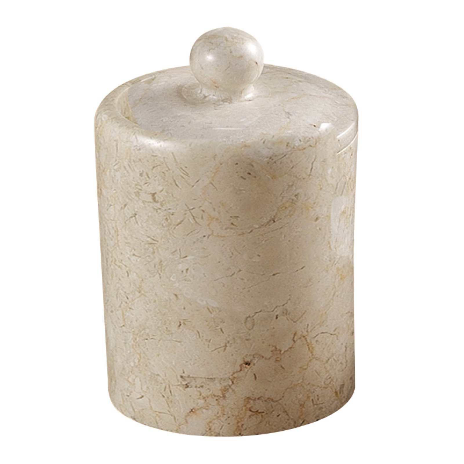 Creative Home Spa Marble Cotton Ball Holder