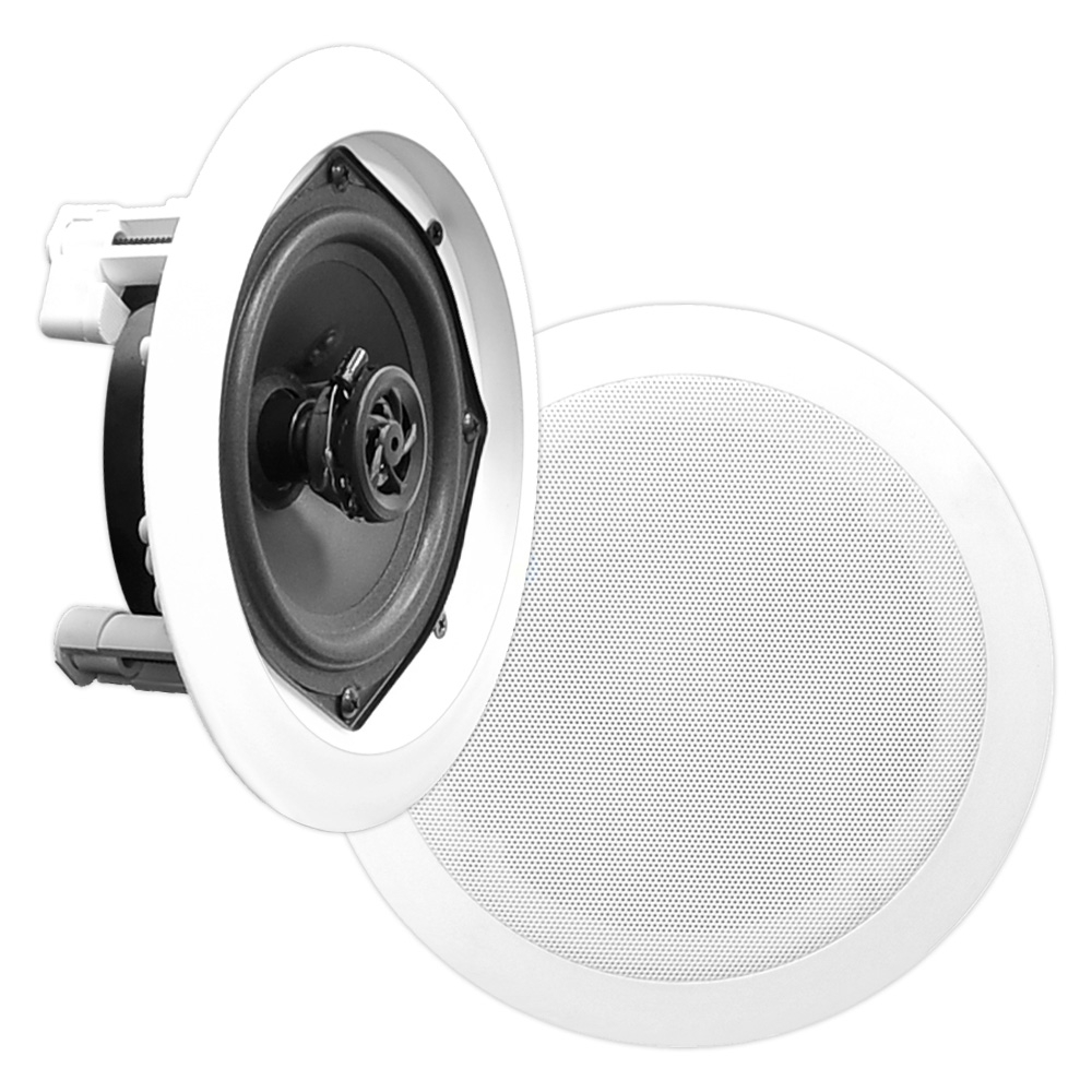 PYLE PDIC81RD - In-Wall / In-Ceiling Dual 8-inch Speaker System, 2-Way, Flush Mount, White