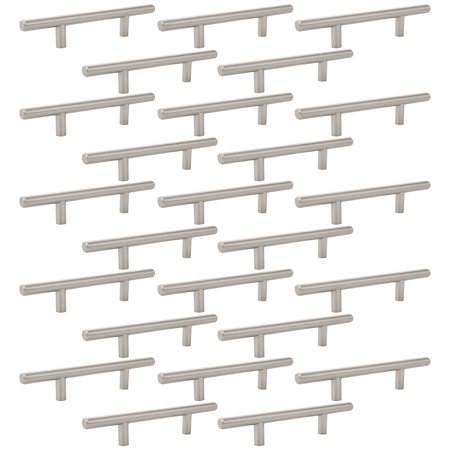 25 - Pack Euro Bar Pull Kitchen Cabinet Hardware 6