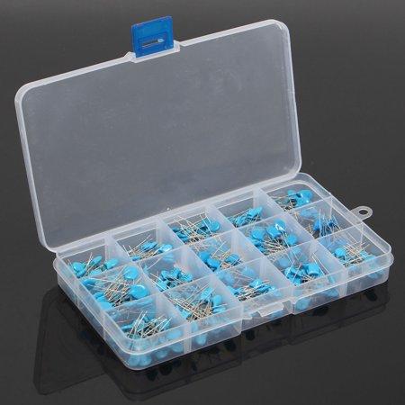 300pcs 15value 50V 0.1nF~22nF High Voltage Ceramic Capacitors Assortment Assorted Kit + Box - image 1 de 5