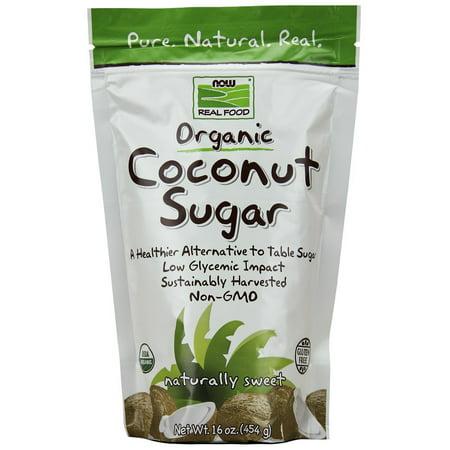 - (12 Pack) Now Coconut Sugar Organic, 16 Oz