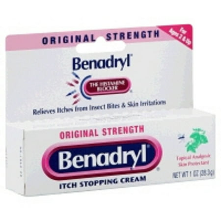 Benadryl - Itch Relief - 2% / 0.1% Original Strength Cream - 1 Each - 1 oz. Tube - (Best Cream For Allergy Rash)