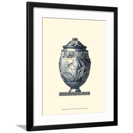 Blue Porcelain Urn IV Framed Print Wall Art