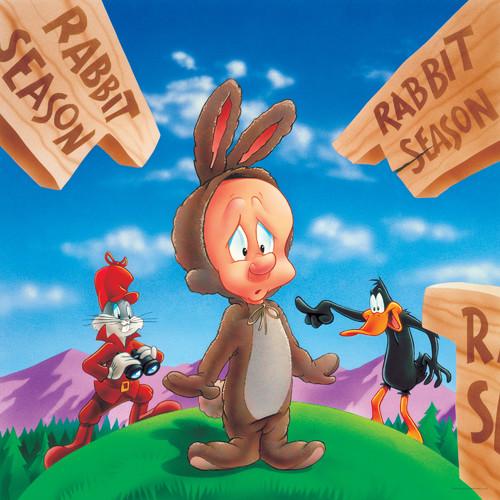 Oriental Furniture Bugs, Daffy and Elmer Fudd Rabbit Season Canvas Art