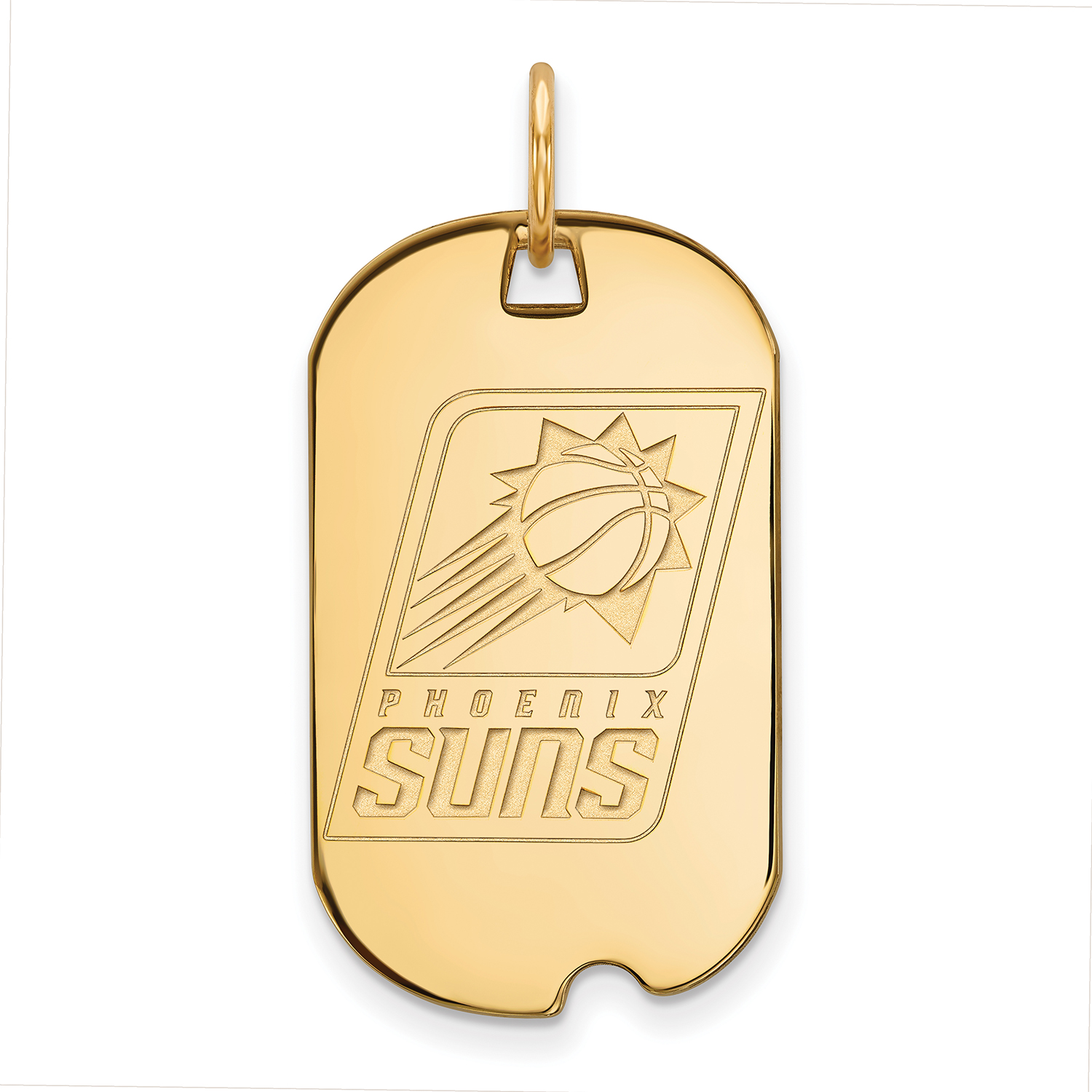 Phoenix Suns Women's Gold Plated Small Dog Tag - No Size
