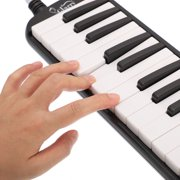Glarry 32 Piano Keys Melodica Musical Instrument For Music Lovers With Oxford Cloth Bag And More Black