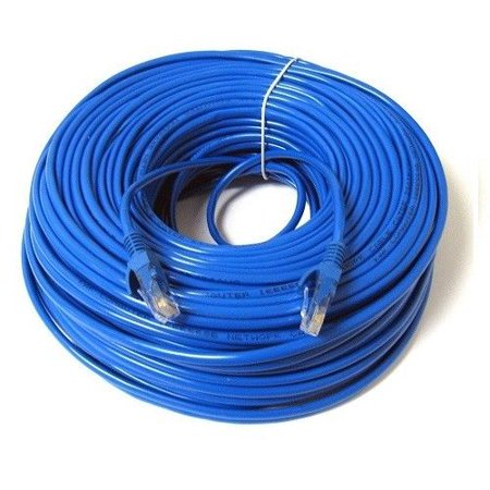 New 200 ft RJ45 CAT5E 24 AWG PATCH LAN ETHERNET NETWORK CABLE Cord Blue UTP