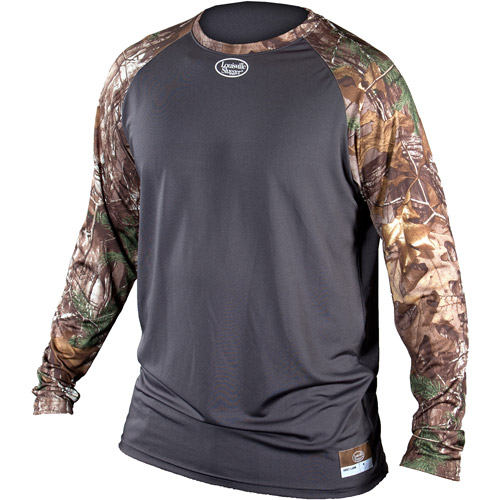 Louisville Slugger Youth Slugger Compression-Fit Long-Sleeve Shirt, Camo