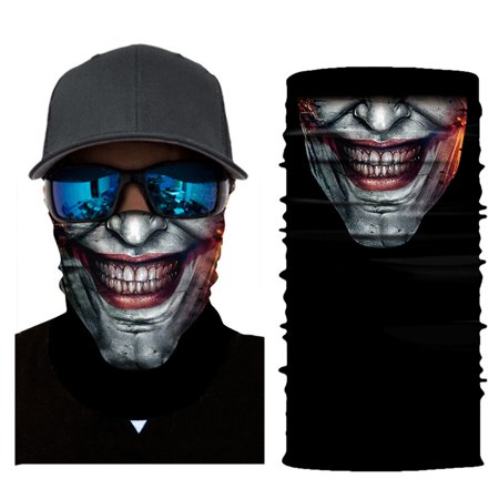 Cycling Motorcycle Neck Tube Ski Scarf Face Mask Balaclava Halloween Party - Scary Pretty Halloween Face Paint