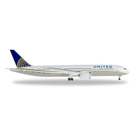 Herpa Wings 528238 United Airlines Boeing 787-9 Dreamliner 1/500 Scale Model