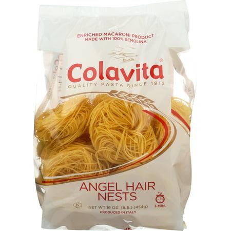 (6 Pack) Colavita Angel Hair Nests Pasta, 16.0 OZ