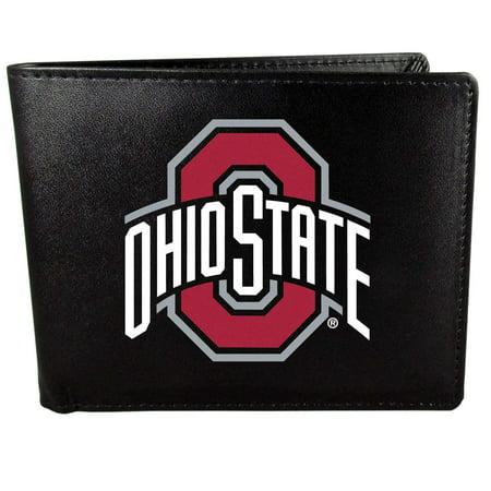Team Logo Wallets - Ohio State Buckeyes Bi-Fold Wallet Logo, Large, Black