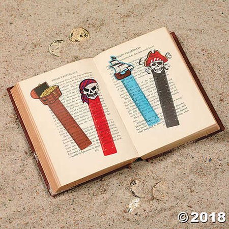 Pirate Ruler Bookmarks 48 ct