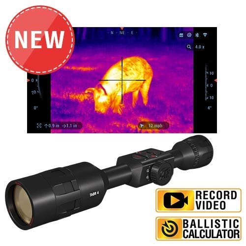 ATN ThOR 4 384x288, 4.5-18x, Thermal Rifle Scope with Ultra Sensitive Next Gen Sensor, WiFi, Image Stabilization, Range Finder, Ballistic Calculator and IOS and Android Apps (Thermal Scope For Airsoft)