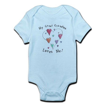 CafePress - My Great Grandma Loves Me Infant Bodysuit - Baby Light