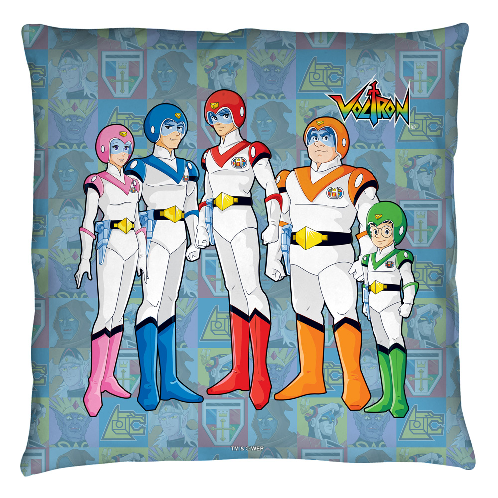 Voltron Team Throw Pillow White 26X26