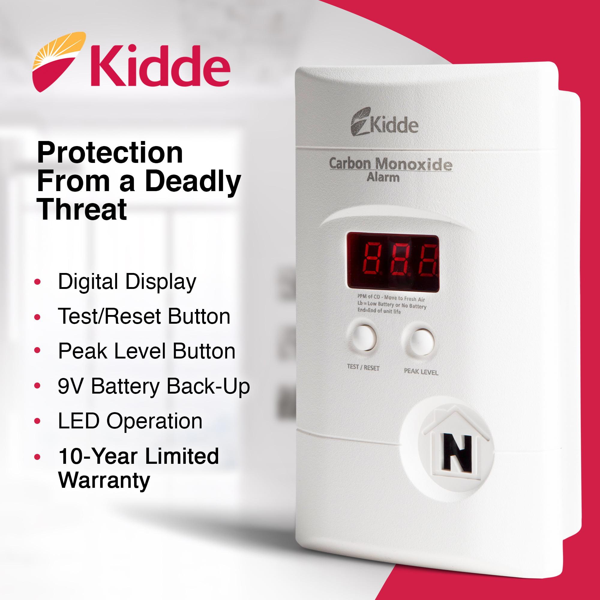 Kidde Plug-in Carbon Monoxide Detector Alarm Battery Backup /& Digital KN-COPP-3