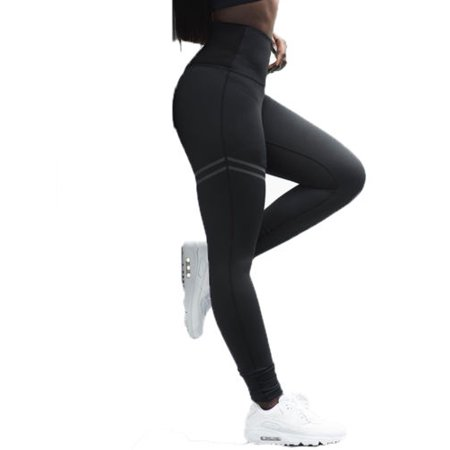 52ec1074181d1 Womens Sport Leggings High Waist Pants Trousers Fitness Yoga Gym Workout  Clothes - Walmart.com