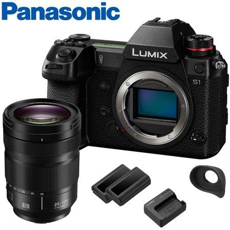 Panasonic Lumix DC-S1 Mirrorless Digital Camera w/ S PRO 24-105MM f/4 Macro OIS Lens w/ Extra DMW-BLJ31 Battery + Upgraded DMW-EC6 Eyecup   4K + 24.2MP + Weather