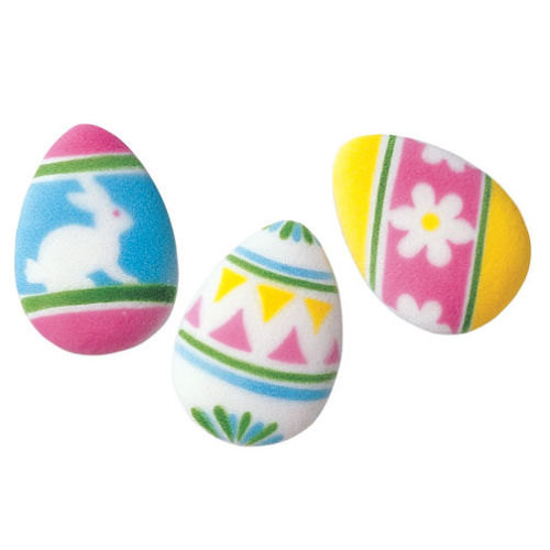 Easter Egg Assortment Sugar Decorations Toppers Cupcake Cake Cookies Favors Party 12 Count