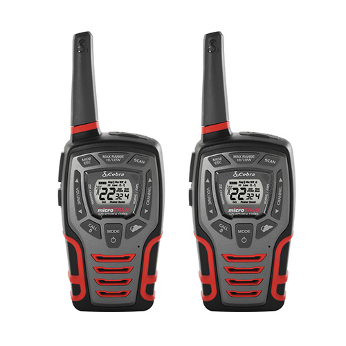 Cobra Acxt545 2 Pack Walkie Talkie 28 Mile Radio Walmart Com