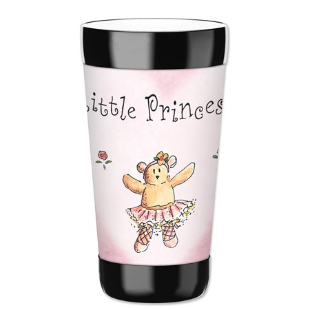 Mugzie 16-Ounce Tumbler Drink Cup with Removable Insulated Wetsuit Cover - Little - Princess Plates And Cups