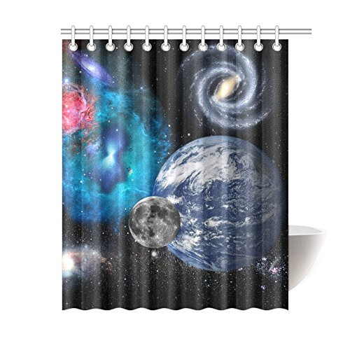 GCKG Solar System Planet Universe Space Shower Curtain Galaxy