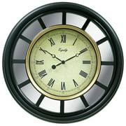"Equity by La Crosse 22"" Mirror Clock, Black"