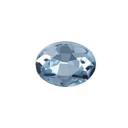 10pcs Embellishment Rhinestone, Violet Oval Foil Back Crystal 8x6mm/pack (3-pack Value Bundle), SAVE