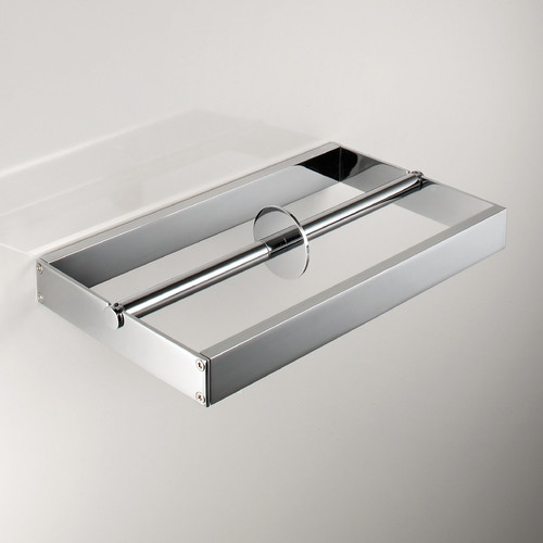 WS Bath Collections Skuara Wall Mounted Double Toilet Paper Holder