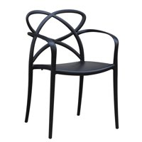 Modern Contemporary Urban Design Kitchen Dining Side Chair, Black, Plastic
