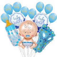 Fancyleo Hot Sales! 1 Set Baby Shower Balloons Pink Or Blue Birthday Party Decorations