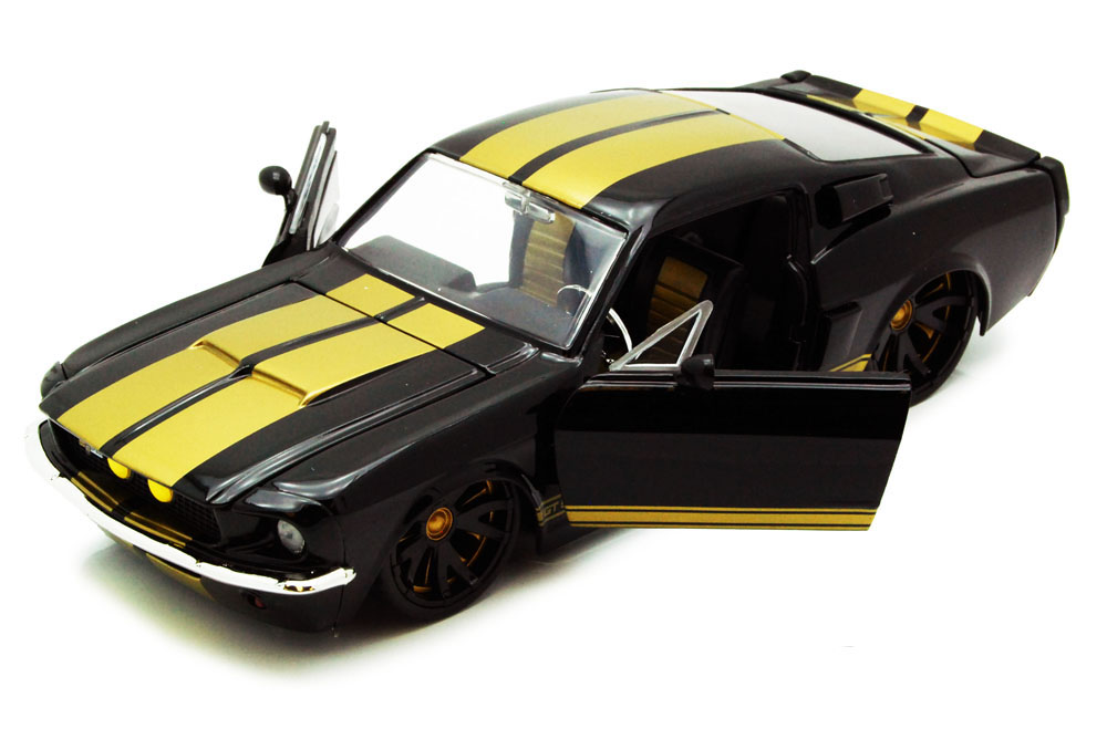 1967 Shelby GT500, Black Jada Toys Bigtime Muscle 90214 1 24 scale Diecast Model Toy Car... by Jada