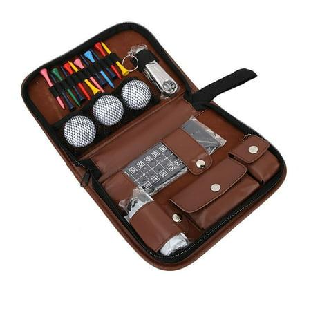 Qiilu Outdoor Sport Golfer Gift Set Tool PU Bag Golf Accessoires Kit Multifunctional,Golfer Tool Kit Bag, Golfer Tool Set Kit Bag - image 5 of 8
