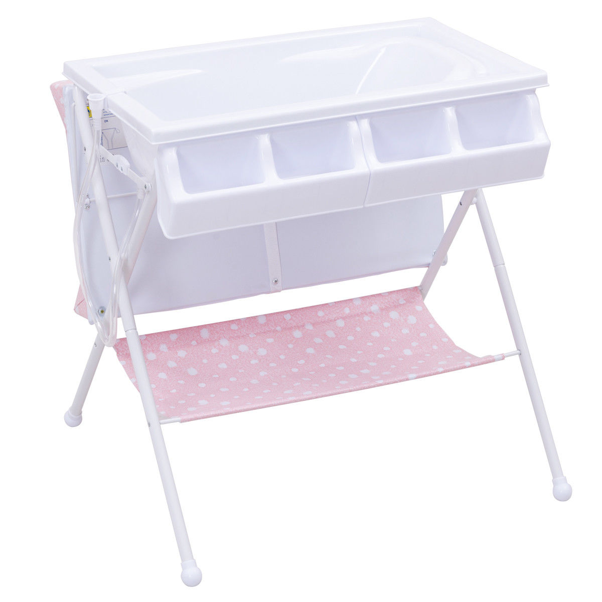 Costway Infant Baby Bath Changing Table Diaper Station Storage Organizer - image 7 of 8