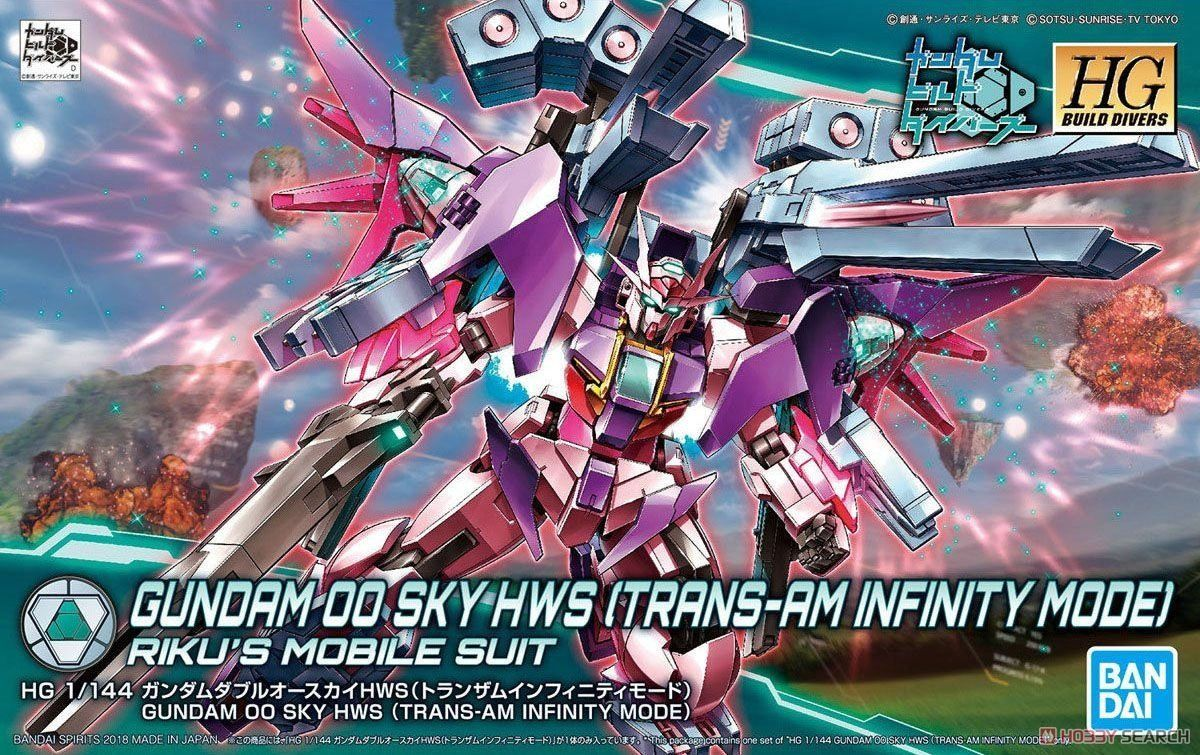 Bandai Build Divers Gundam 00 Sky HWS Trans-Am Infinity Mode HG 1 144 Model Kit by Bandai Hobby