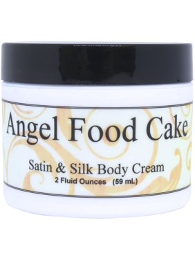 Angel Food Cake Satin and Silk Cream, Body Cream, Body Lotion, 2 oz