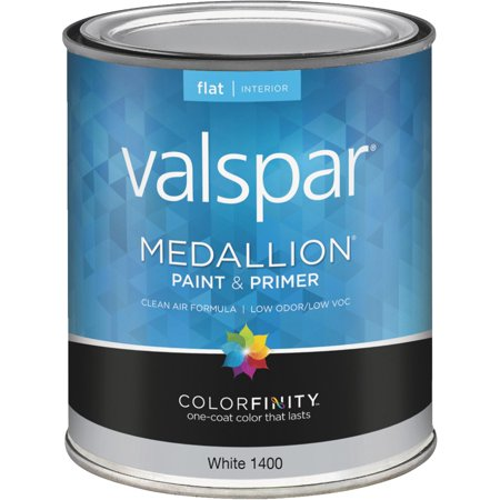 Valspar Medallion 100 Acrylic Paint Primer Flat Interior Wall Paint