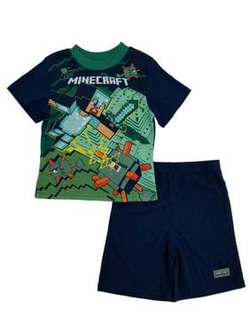 5f9b665f Product Image Minecraft Mojang Boys 2-Piece Sleepwear Pajama Shorts Set