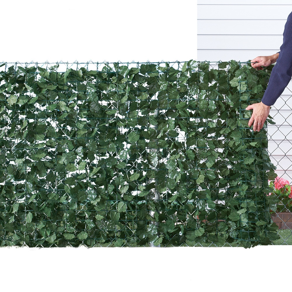 Collections Etc Faux Ivy Privacy Fence Screen by Collections Etc