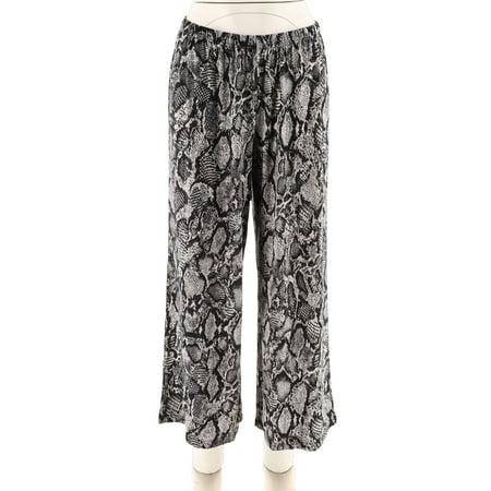 Joan Rivers Jersey Knit Wide Leg Pull-On Pants A280279