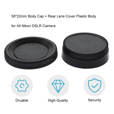 58*22mm Body Cap + Rear Lens Cover Plastic Body for All Nikon DSLR Camera - image 5 of 8