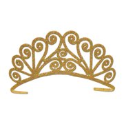 Glittered Tiara (gold) Party Accessory  (1 count) (1/Pkg)