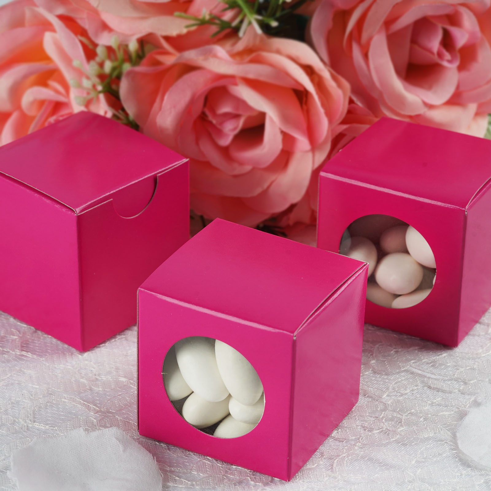BalsaCircle 100 Favors Boxes with a Clear Window - Wedding Party ...