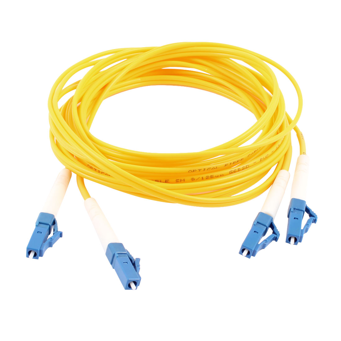 LC/LC Male Single Mode Duplex Fiber Patch Cable Jumper Cord Jump  3 Meters