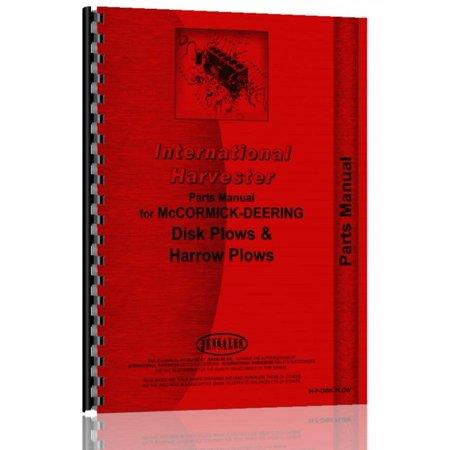 International Harvester 99 Disk Plow Parts Manual Plow Parts Manual