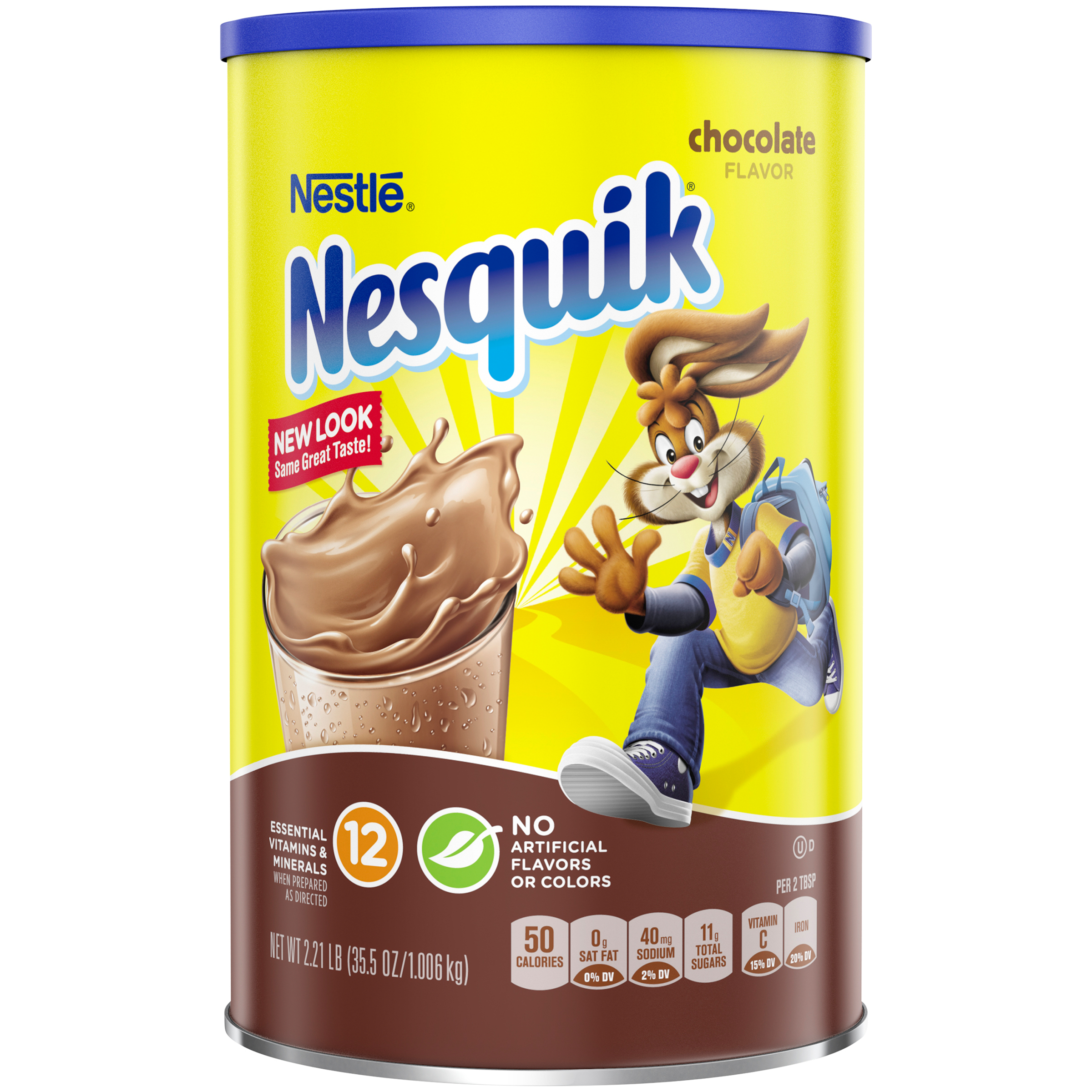 NESTLE NESQUIK Chocolate Flavored Powder 2.21 lb. Canister