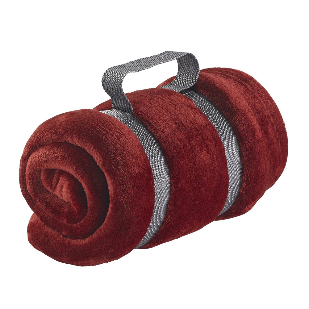 Lewis N Clark Microplush Travel Blanket, Burgundy
