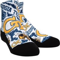 GA Tech Yellow Jackets Rock Em Socks Youth Logo Sketch Quarter-Length Socks - No Size